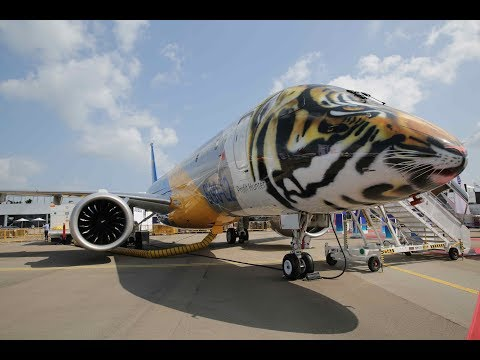 Singapore Airshow 2018 : Static Display Aircraft : A350 ,Bombardier CS100, H135, Bell Helicopter,