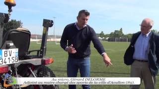 Entretien du stade Léon Laurent - Terrain synthétique - Édition 2015 à Avallon (89)