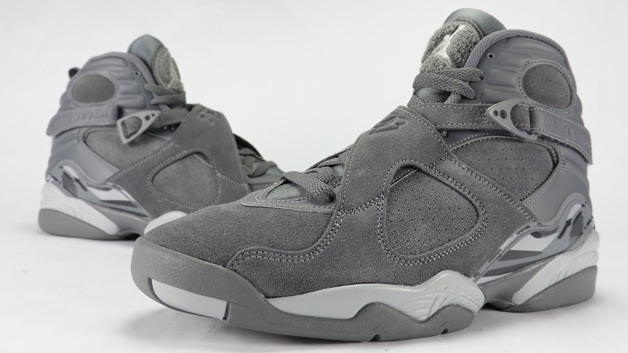 67b5fb2015d8 Air Jordan 8 Cool Grey Review + On Feet - YouTube