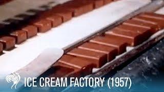 Ice Cream Factory: How Choc Ice is Made (1957) | British Pathé
