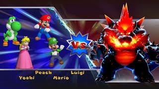 Mario Party 9 Boss Minigames - Luigi vs Mario vs Peach vs Yoshi