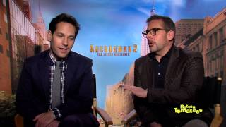 Anchorman 2: The Legend Continues Star Paul Rudd Gets His Face Licked