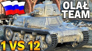 ROSYJSKI GRACZ OLAŁ TEAM? - 1 vs 12 - World of Tanks