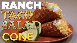 Ranch Taco Salad Cone | Foodbeast Kitchen