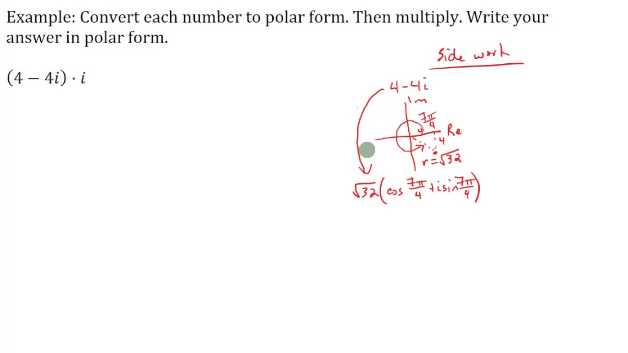 Multiplying Complex Numbers in Polar Form - YouTube