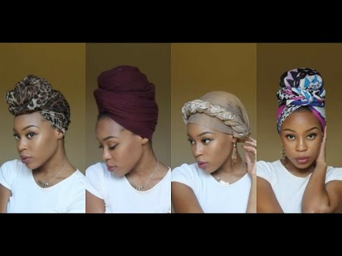 4 Quick & EASY Headwrap/Turban Styles (Short Natural Hair &