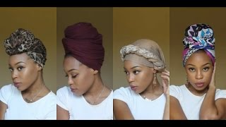 4 Quick & EASY Headwrap/Turban Styles (Short Natural Hair & TWA Friendly)