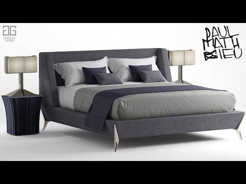 """№74.Моделирование кровати """"Paul mathieu gems"""" в 3d max и marvelous designer"""