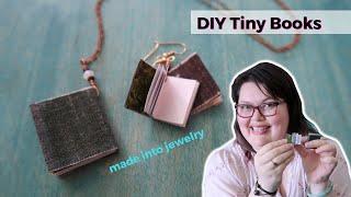 DIY Tiny Book - made into jewelry