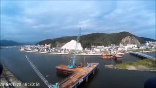 内海橋災害復旧下部工工事 2015年7月20日撮影