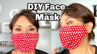 HOW TO DIY FACE MASK / NO SEW EASY TO MAKE / DOLLAR TREE DIY