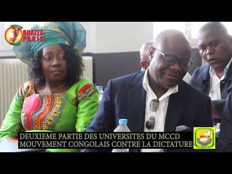 LES UNIVERSITÉS D'ÉTÉ DU MCCD ET NOUVEAU CONGO À PARIS