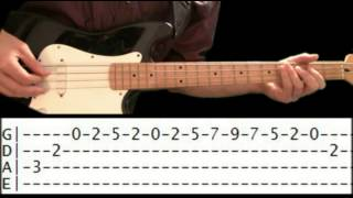 Bass Guitar Lesson - Jazz Bass Tabs