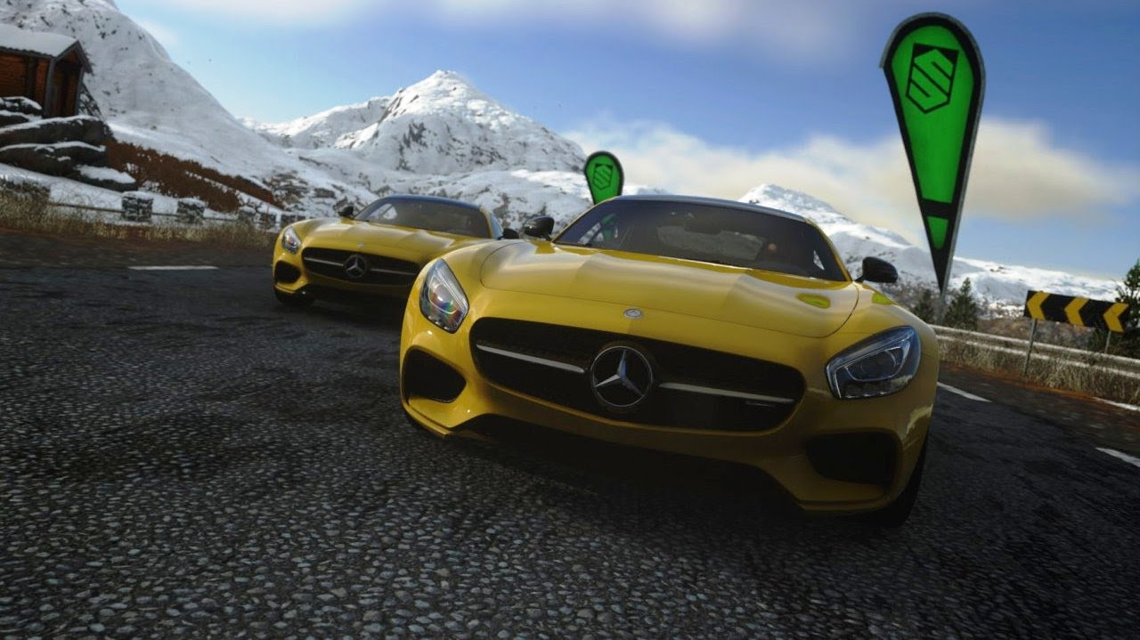 mercedes amg gt v8 playstation 4 racing game driveclub youtube. Black Bedroom Furniture Sets. Home Design Ideas