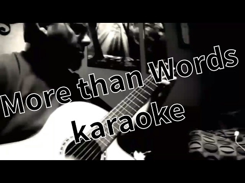 """More than words"" cover, with lyrics, played on Lucero LFN200SCE classical guitar, karaoke style"