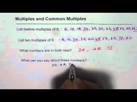 Multiple and Common Multiples of 6 and 8