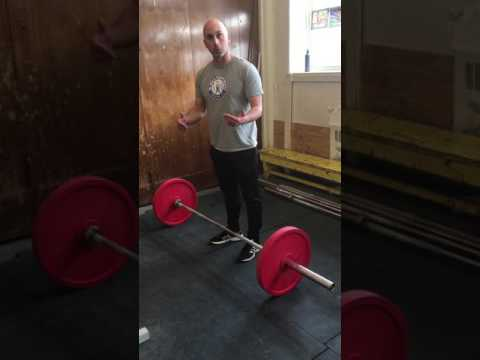SFUSD weightlifting Clean from the knee Power Jerk