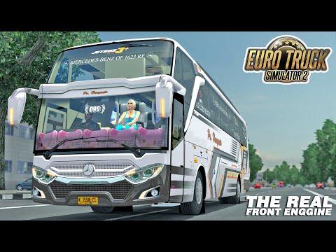 Jajal Bus Yang Lagi Viral !!! PO Haryanto Front Engine Mercedes Benz 1623 RF - 동영상