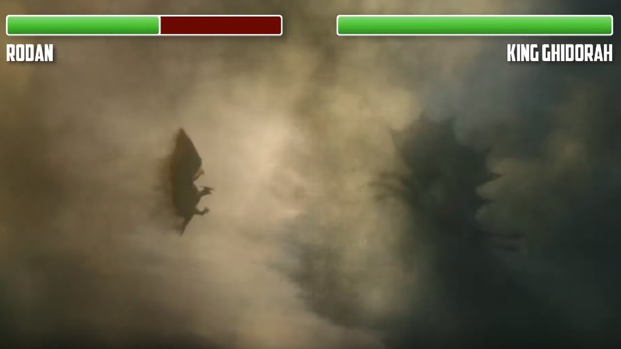 Download Rodan vs. Jets and King Ghidorah WITH HEALTHBARS | HD | Godzilla: King of the Monsters