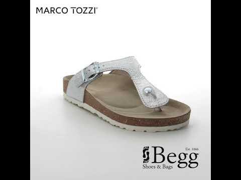 1cc576d19cad Marco Tozzi Franca 27400-22-941 Silver Toe Post Sandals