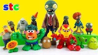 Mr. Potato Head Hulk y Ironman Plants vs Zombies Aventuras Super To...