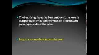 Tips For Buying Outdoor Bar Stools