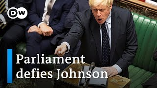 Parliamentary defeat for Boris Johnson in key Brexit vote | DW News