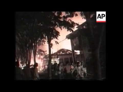 Amateur video of immediate aftermath of Bali blast