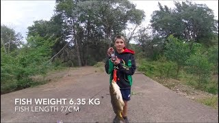 MONSTER CARP CAUGHT AT NEPEAN RIVER WEIR - Fishing 22 October