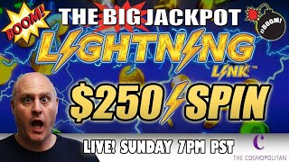 🔴 First Ever $250 Live Massive Pull Lighting Link 💣 The Big Jackpot | The Big Jackpot