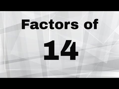Factors Of 14 ( Bonus-Prime Factorization Of 14)