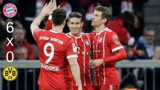 Bayern 6 x 0 Borussia Melhores Momentos 31/03/18