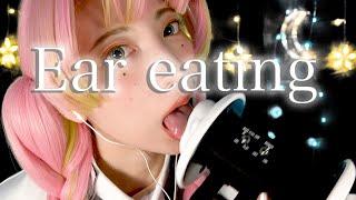 【鬼滅の刃ASMR】甘露寺蜜璃の耳舐め&耳食べ【あなたのナイトルーティン】