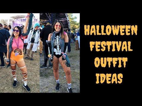 Halloween Festival/Rave Outfit Ideas & Glitter Tutorial