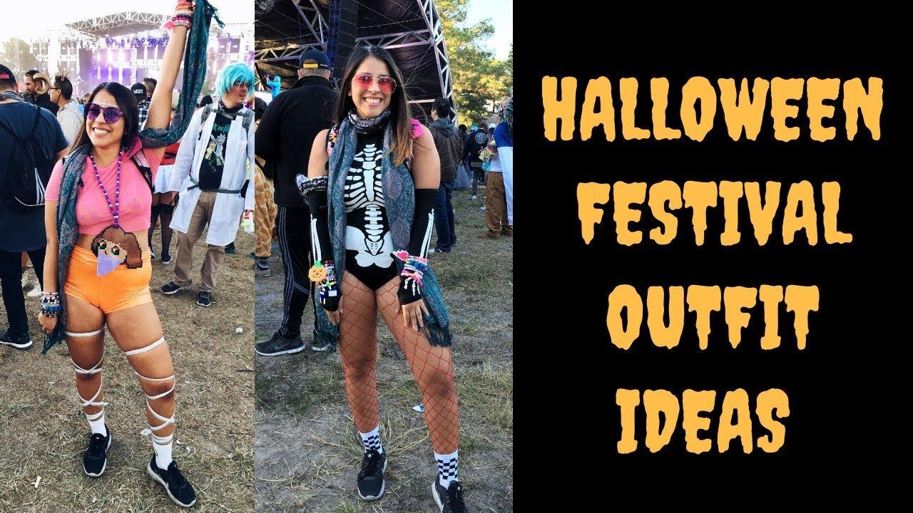 Halloween Festival Outfit Ideas.Halloween Festival Rave Outfit Ideas Glitter Tutorial
