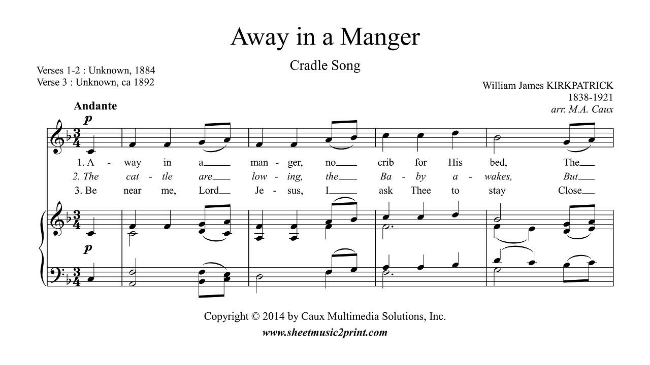 Kirkpatrick : Away in a Manger - Soprano or Tenor - YouTube
