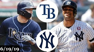 Tampa Bay Rays vs New York Yankees - Full Game Highlights | June 19, 2019 | 2019 MLB Season