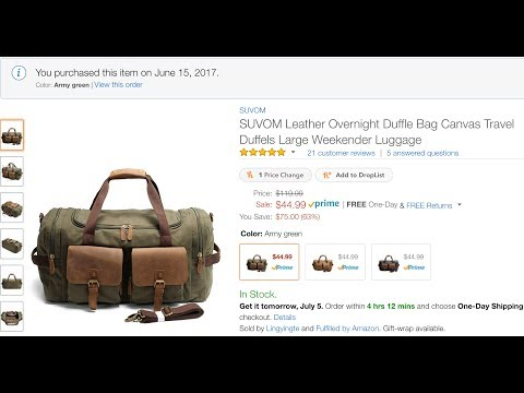 64ecff5b8 PRODUCT REVIEW: Leather and Canvas Duffle Bag by Suvom - YouTube
