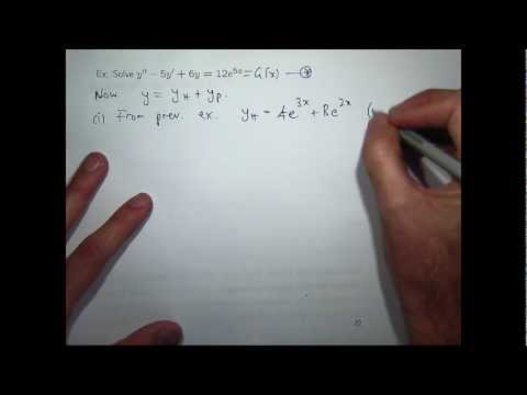 Nonhomogeneous 2nd-order differential equations