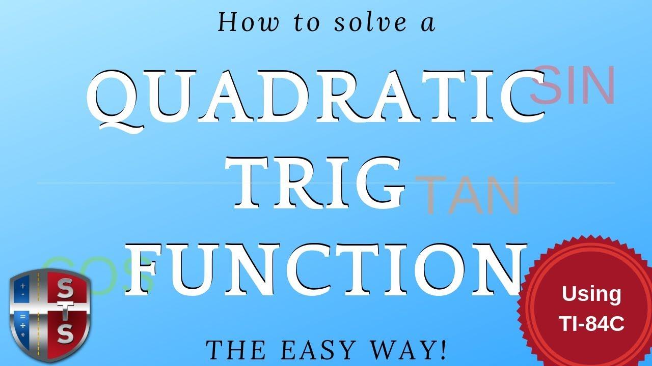 Math Analysis - Trigonometric Equation - Quadratic - Solve over an ...
