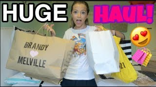 HUGE BACK TO SCHOOL HAUL - Brandy Melville, Sephora, Whistle Kids, Hollister and more! // ReeSees
