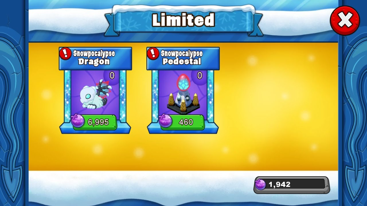 Snowpocalypse Dragon Dragonvale