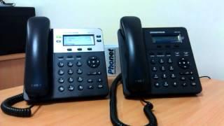 как организовать 3-х стороннюю конференцию на телефоне Grandstream gxp1400/1450