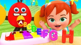 Alphabets for Kids - Learning Alphabets with Singing Bird Toy Set 3D Kids Educational ABC Songs