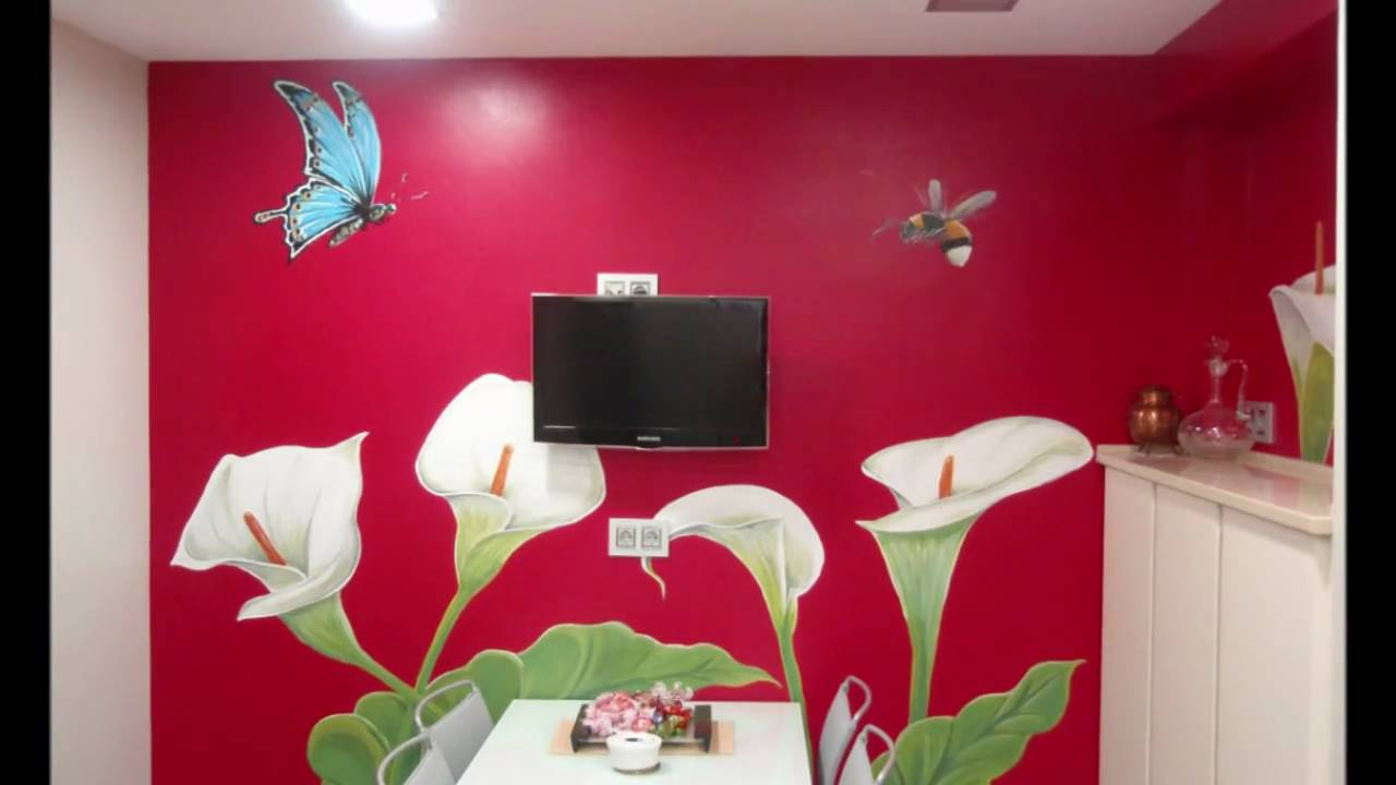 Pintura mural decoracion murales vitoria youtube for Decoracion para inmobiliarias