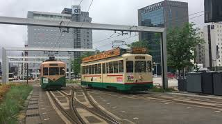 富山地方鉄道 富山市内軌道線 富山駅の7000形 Toyama Chihō Railway Toyama City Tram Line Toyama Station (2018.4)