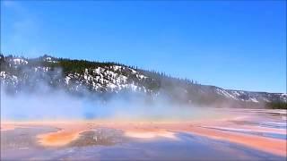 17 Йеллоустоун  Самый мой любимый ролик !!! Большой Призматический источник и река
