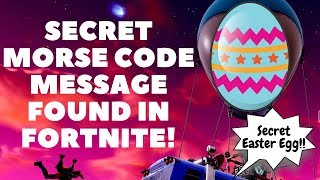 SECRET MORSE CODE MESSAGE Easter Egg Found In Fortnite - Controller Vibrating Bug