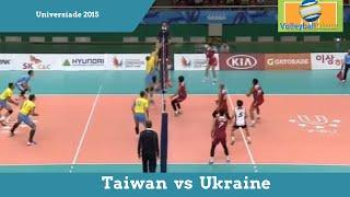 Волейбол, Тайвань - Украина, 10.07.2015 - Лучшие моменты
