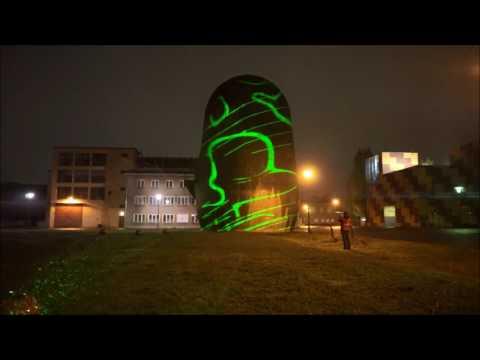 Outdoor lasers. Berlin